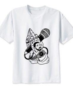 T-Shirt Drake Drizzy 6 God Doigt d'honneur Micro