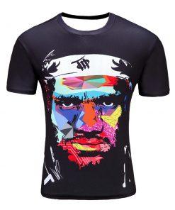T-Shirt Fashion Hip Hop Black Ninja