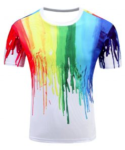 T-Shirt Fashion Hip Hop Grafitti Peinture