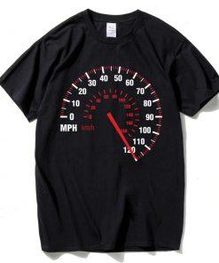 Tee Shirt Compteur Vitesse Moto Hommes Coton