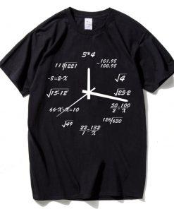 T-shirt Horloge Mathématiques Coton