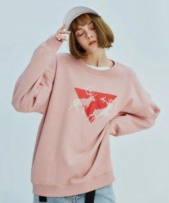 Sweatshirt Hip-Hop Triangle inversé Femmes