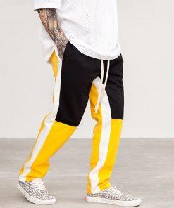 Pantalon Joggeurs Couleur Patchwork Hip Hop