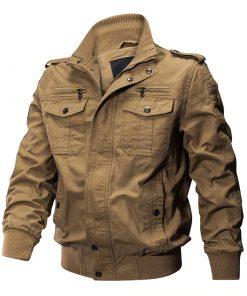Veste militaire pilote Coton Hommes