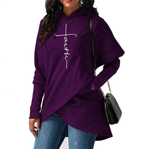 Sweat Shirts Femmes à manches longues Cross Faith