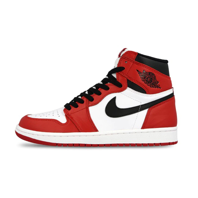 quality design 832df 2f2f4 Chaussures Nike Air Jordan 1 Rétro OG Authentique Rouge Blanc