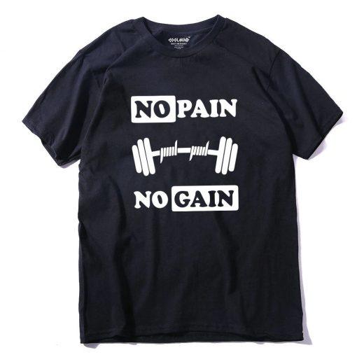 T-shirt No Pain No Gain 100% coton Hommes
