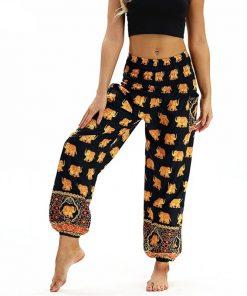 Baggy Boho pantalon élastique Zen Femmes