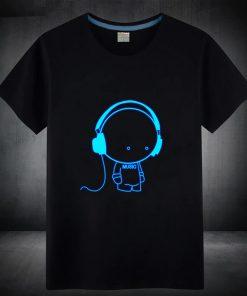T-Shirt 100% coton Bleu Fluorescent Hommes Music
