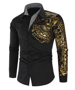 Chemise Luxe or noir Club Hommes