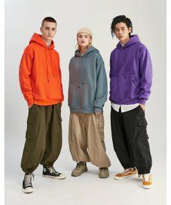 Sweats capuche épais Hip Hop 11 couleurs Unisexe