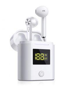 Écouteur Bluetooth HD stéréo affichage chargeur LED