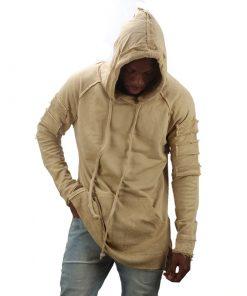 Sweat-shirtst capuche Mode déchiré Hip Hop Hommes