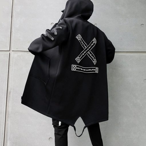 Manteau Long Mode Style Off White Hommes
