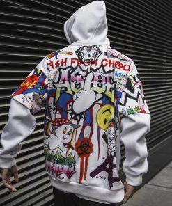 Sweat capuche Graffiti Hip Hop Chaos