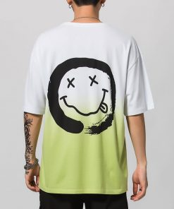 T-shirt Smiley Dead Graffiti Mode Hip Hop