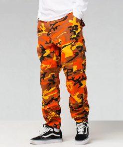 Pantalon couleur camouflage Hip Hop Hommes