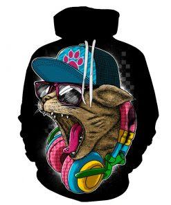 Sweatshirts capuche Unisex Chat Hip Hop