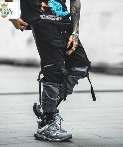 Pantalon Streetwear Joggers Hip Hop élastique ruban