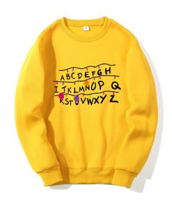 Sweatshirts Unisexe Alphabet Hoodies Hip Hop
