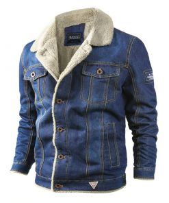 Veste Jeans Polaire Streetwear Hommes