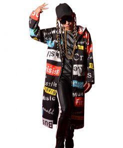 Manteau capuche longue veste coupe-vent Unisexe Fashion
