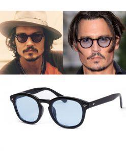 Lunettes De soleil rondes mode Johnny Depp