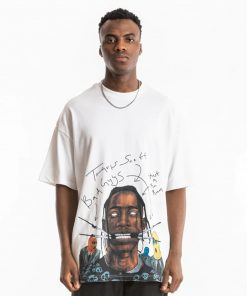 T-shirt Mode Travis Scott Streetwear Hip Hop Coton