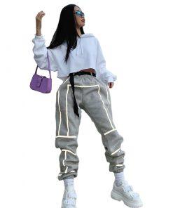 Pantalon Mode réfléchissant Hip Hop streetwear