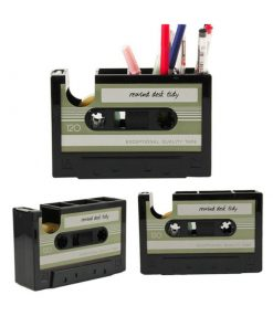 Porte Crayons et Ruban adhésif Décoration Cassette