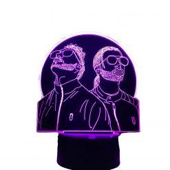 Veilleuse Groupe Rap français PNL 3D Led